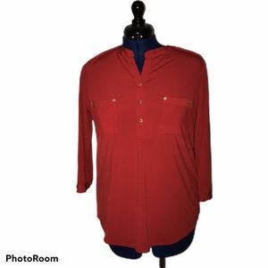 NWT Anne Klein Large Red Top